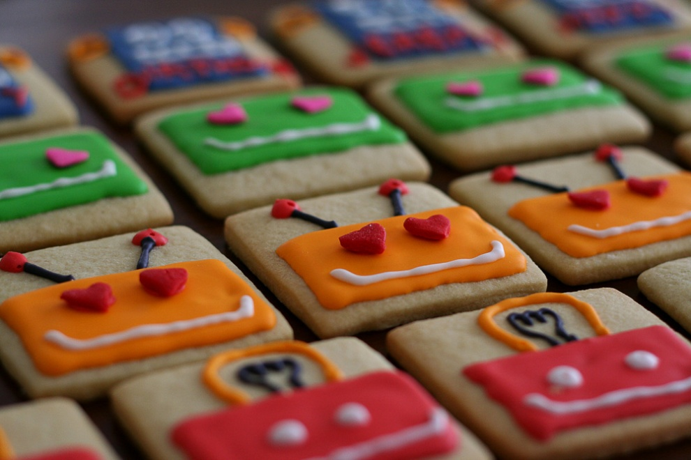 science cookies robot cookies