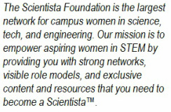 about the scientista foundation women in STEM