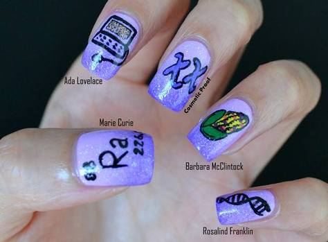 scientista nail art nerdy nails cosmeticproof women in science
