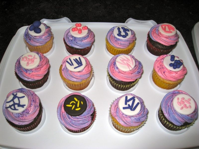microbiology cupcakes, biology cupcakes, science cupcakes