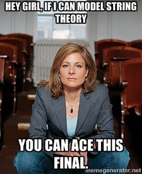 lisa randall meme ace this final