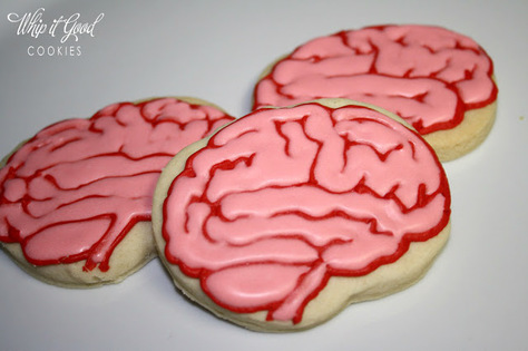 science cookies brain cookies